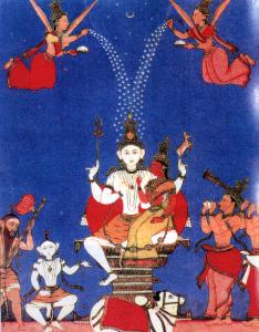 Illustration: pressentiment de l'ange - Inde